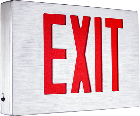 EEAE Series Brushed Aluminum Body Exit Sign