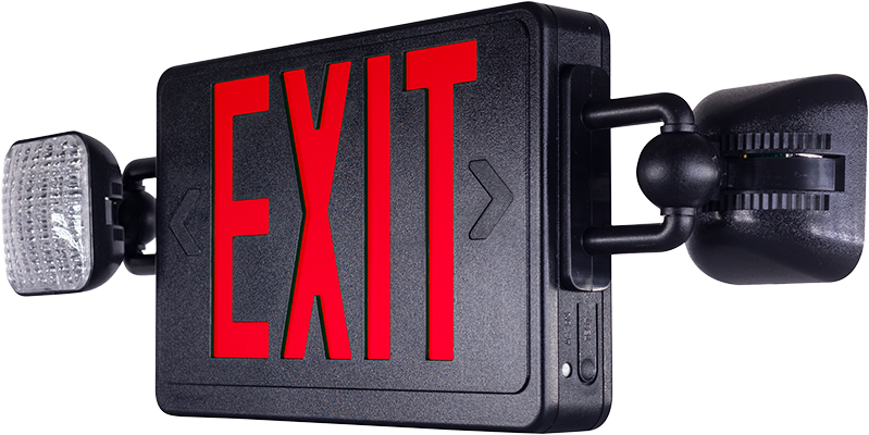 Luxguild EETL Exit Sign with Lights