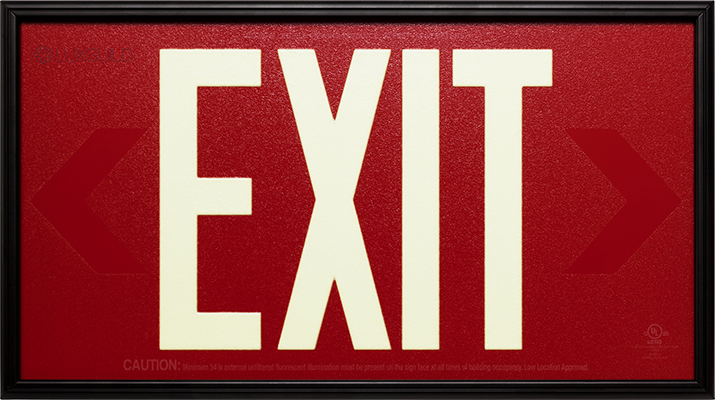Luxguild Photoluminous Exit Sign