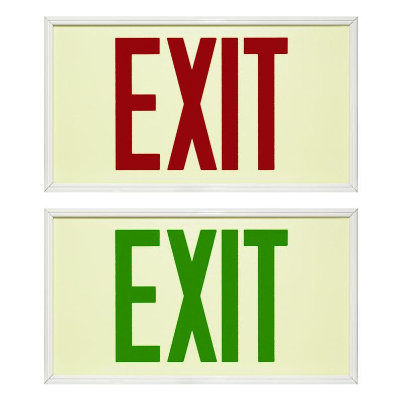 The Selene - UL924 Photoluminescent Exit Sign 75ft Viewing Distance: Series: EEPS