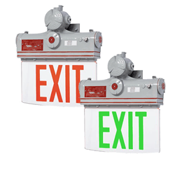 Class 1 Div 1 Explosion-Proof Edgelit Exit Sign Series: EEXP