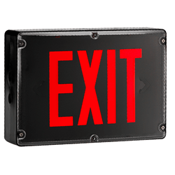 UL Listed for Wet and Damp Locations Exit Sign Series : EEVX