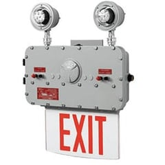 Class 1 Div 1 Explosion-Proof Edgelit Exit Sign with Lights Series: EEXL