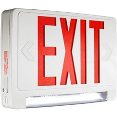 LED Exit Sign with Integrated Linear LED Lights Series: EELC