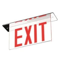 Briosa Series Edge-Lit Exit Signs Recessed : EEBELR