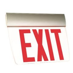 Breva Series Edge-Lit Exit Sign Surface Mount : EEBEVS