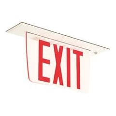 Breva Series Edge-Lit Exit Sign Recessed Mount : EEBEVR