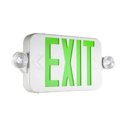 Compact Indoor LED Exit Sign with LED Lights Series: EECC