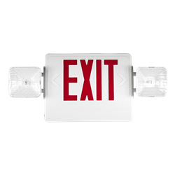 Standard Indoor LED Exit Sign with Integrated Lights Series: EESC