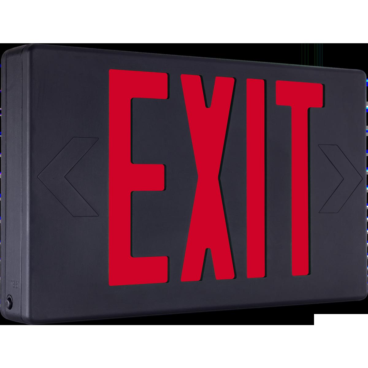 Black Exit Sign