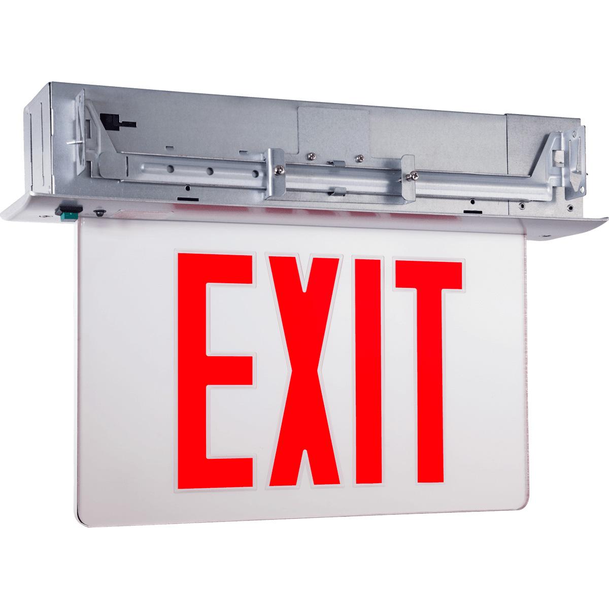 Recessed Edgelit Exit Sign Featuring Trim Options: Series: EEELR
