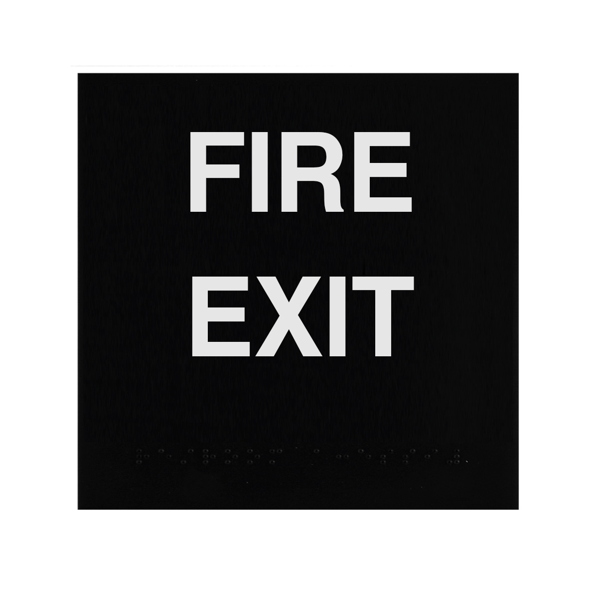 ADA Braille Fire Exit Sign Engraved Applique Grade 2