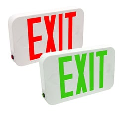 Compact Indoor LED Exit Sign With Universal Installation Kit: Series: EECE