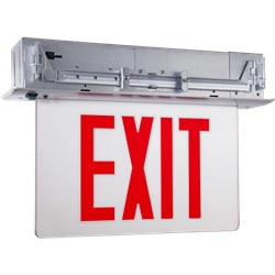Recessed Edgelit Exit Sign Featuring Trim Options: Series: EEELR
