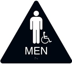 ADA Braille Mens Restroom Sign