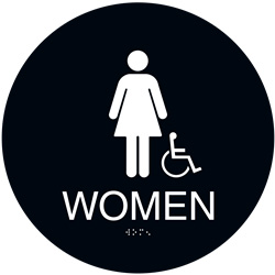 ADA Braille Womens Accessible Restroom Sign