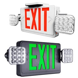 Standard Indoor LED Exit Sign With LED Emergency Lights Series: EETL